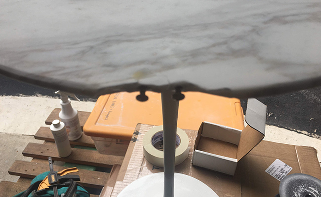 Damaged Marble Table Top